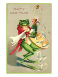 Sommelier Frog Popping Champagne Cork Prints