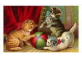 Kittens with Ball Art