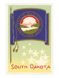 South Dakota Flag Art Print