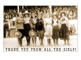 Thank You from all the Girls, Cowgirls Prints