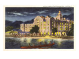 Night, Royal Hawaiian Hotel, Honolulu Prints