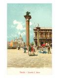 Skt. Markus plads, Venedig, Italien Plakater