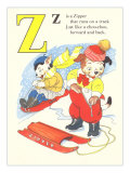 Z is for Zipper Affiches