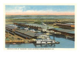 Seaboard Docks, Savannah, Georgia Posters