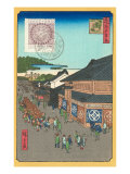 Japanese Woodblock, Market Scene Prints