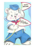 Happy Birthday Nephew, Bear in Sailor Suit Posters