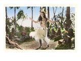 Hula Dancer, Hawaii Prints