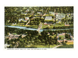 Aerial View, Iowa City, Iowa Prints