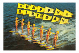 Happy Birthday, Water Skiers Print