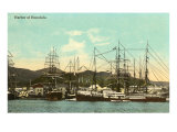 Tall Ships, Honolulu Harbor, Hawaii Posters