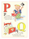P is for Piggie, Q is for Quilt Poster