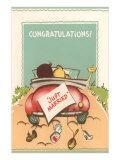 Congratulations, Just Married, Back of Car Affiches
