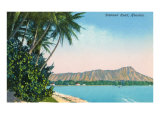 Diamond Head, Honolulu, Hawaii Print