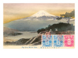 Fuji from Motosu Lake, Japan Poster