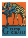 G is for Giraffe Art