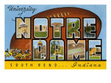 University of Notre Dame, South Bend, Indiana Prints