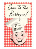 Come to the Barbecue, Cartoon Chef Head Prints
