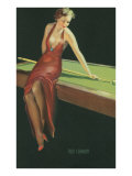 Two Cushion, Vamp Playing Pool Print