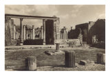 Columns and Ruins in Pompeii Prints