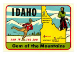 Idaho, Gem of the Mountains, Map Prints