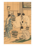 Japanese Woodblock, Public Baths Posters