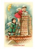 Happy New Year Cherubs at Chimney Prints