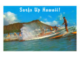 Surf's Up Hawaii, Diamond Head Print