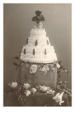 Black and White Photo of Wedding Cake Prints
