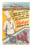 Rickey&#39;s Studio Club, Lobster, Palo Alto, California Prints