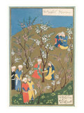 Mughal Miniature, Blossoming Trees Posters