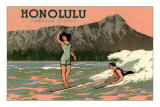 Surf Riders, Honolulu, Hawaii, Graphics Poster