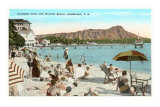 Diamond Head and Waikiki, Hawaii Posters