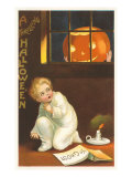 Halloween, Jack O'Lantern Looking in Window Posters