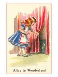 Alice in Wonderland, Alice Finds Door Prints