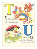 T is for Toys, U is for Umbrella Prints