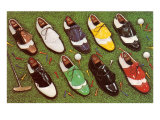 Golf Shoes Print