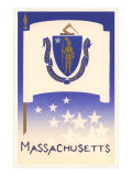 Flag of Massachusetts Poster