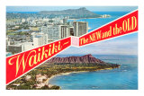 Waikiki, Old and New, Hawaii Posters