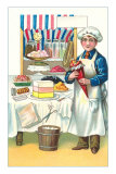 Boy with Various Desserts, Illustration Photo