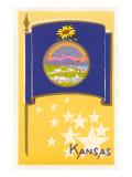 Flag of Kansas Poster