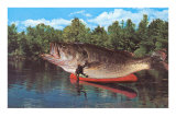 Giant Fish in Canoe Prints