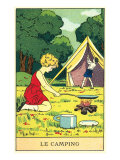 Children Camping Print