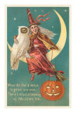 Witch and White Owl Posters