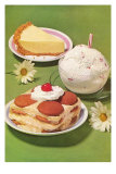 Fifties Desserts Prints