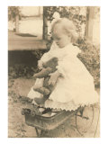 Infant Girl with Teddy Bear Prints