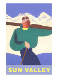 Skier, Sun Valley, Graphics Posters