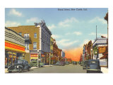 Broad Street, New Castle, Indiana Prints