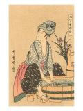 Japanese Woodblock, Washing Clothes Posters