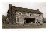 Log Building, Nashville, Indiana Prints