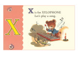 X is for Xylophone Print